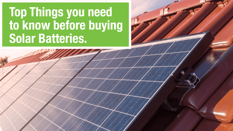 Top Things You Need to Know Before Buying Solar Batterie